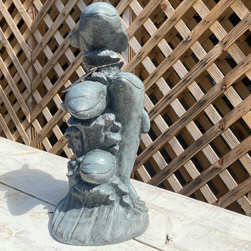 Ethans Courtyard and Patio | Dolphin Concrete Garden Statue | Bonita Springs | Water Fountains, Wall Fountains, Mailboxes, and more