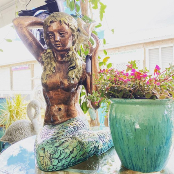 Ethans Courtyard and Patio | Large Bronze Mermaid Statue| Bonita Springs | Water Fountains, Wall Fountains, Mailboxes, and more