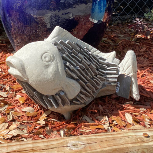 Ethans Courtyard and Patio | Fish Garden Sculptures | Bonita Springs | Water Fountains, Wall Fountains, Mailboxes, and more