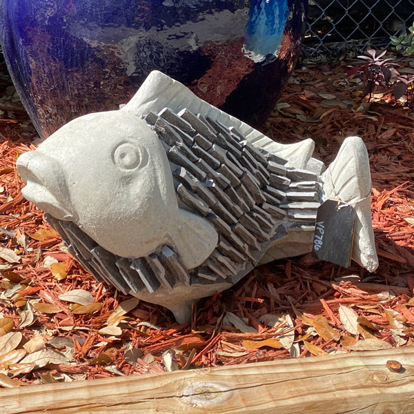 Ethans Courtyard and Patio   Fish Garden Sculptures   Bonita Springs   Water Fountains, Wall Fountains, Mailboxes, and more
