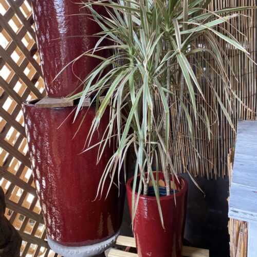 Ethans Courtyard and Patio | Glazed Ceramic Planters
