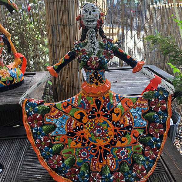 Ethans Courtyard and Patio | Bonita Springs | Hand Painted Outdoor Mexican Decor | Water Fountains, Wall Fountains, Mailboxes, and more