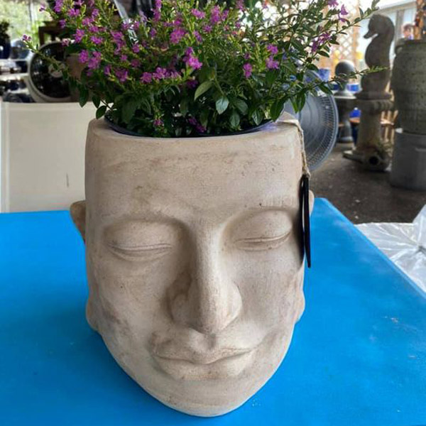 Ethans Courtyard and Patio   Statue Planter